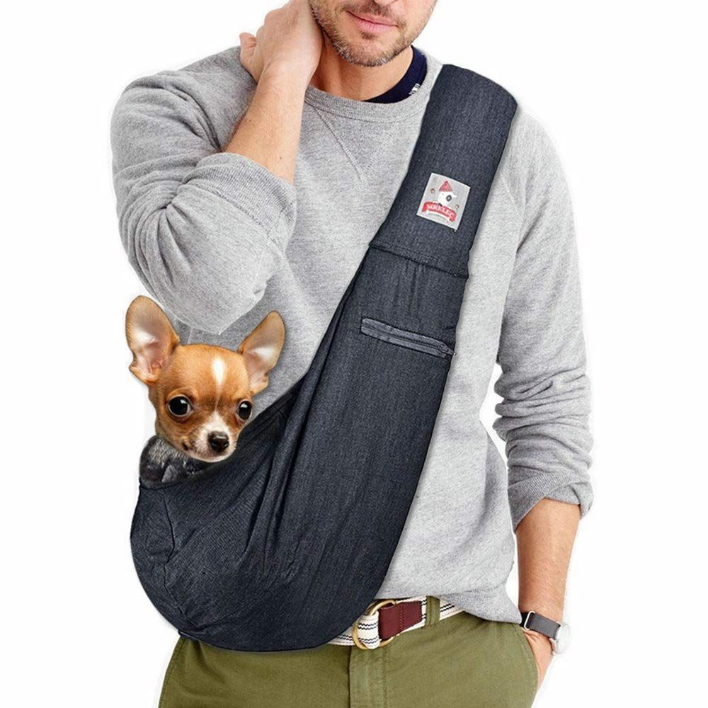 Pet Sling Carrier Small Dog Cats Sling Bag Front Pack Chest Carrier Shoulder Bag Cats Dogs