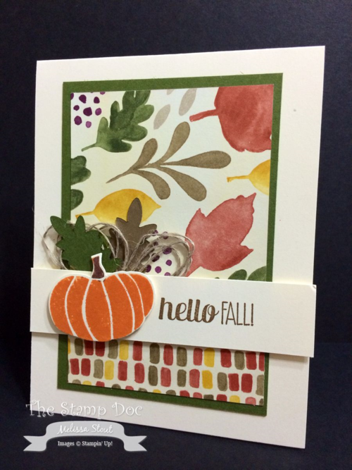 Stampinu0027 Up! Hello Fall Card By Melissa Stout