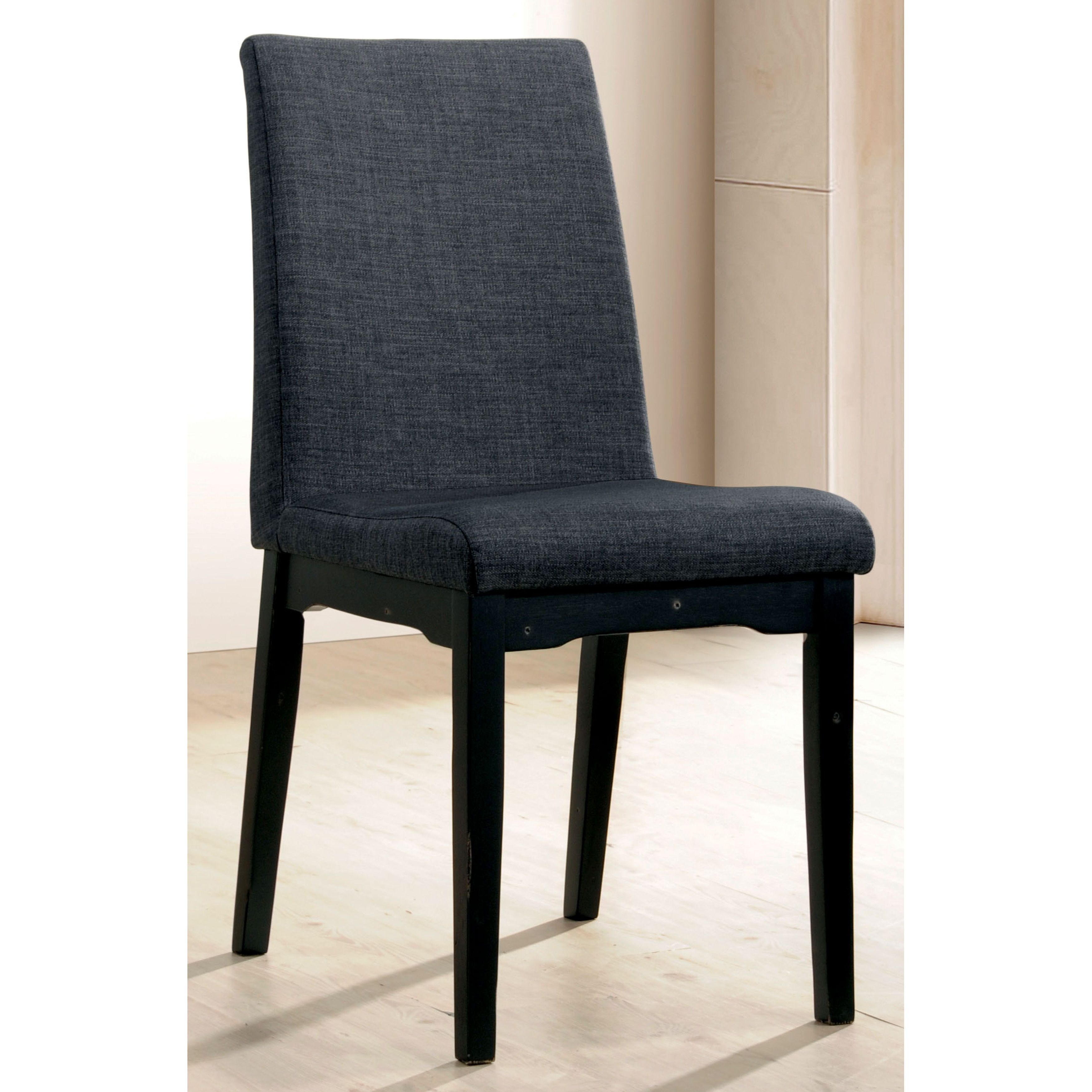 Of America Sierra Contemporary Grey Upholstered Dining Chairs Set  # Muebles Junco Santo Domingo