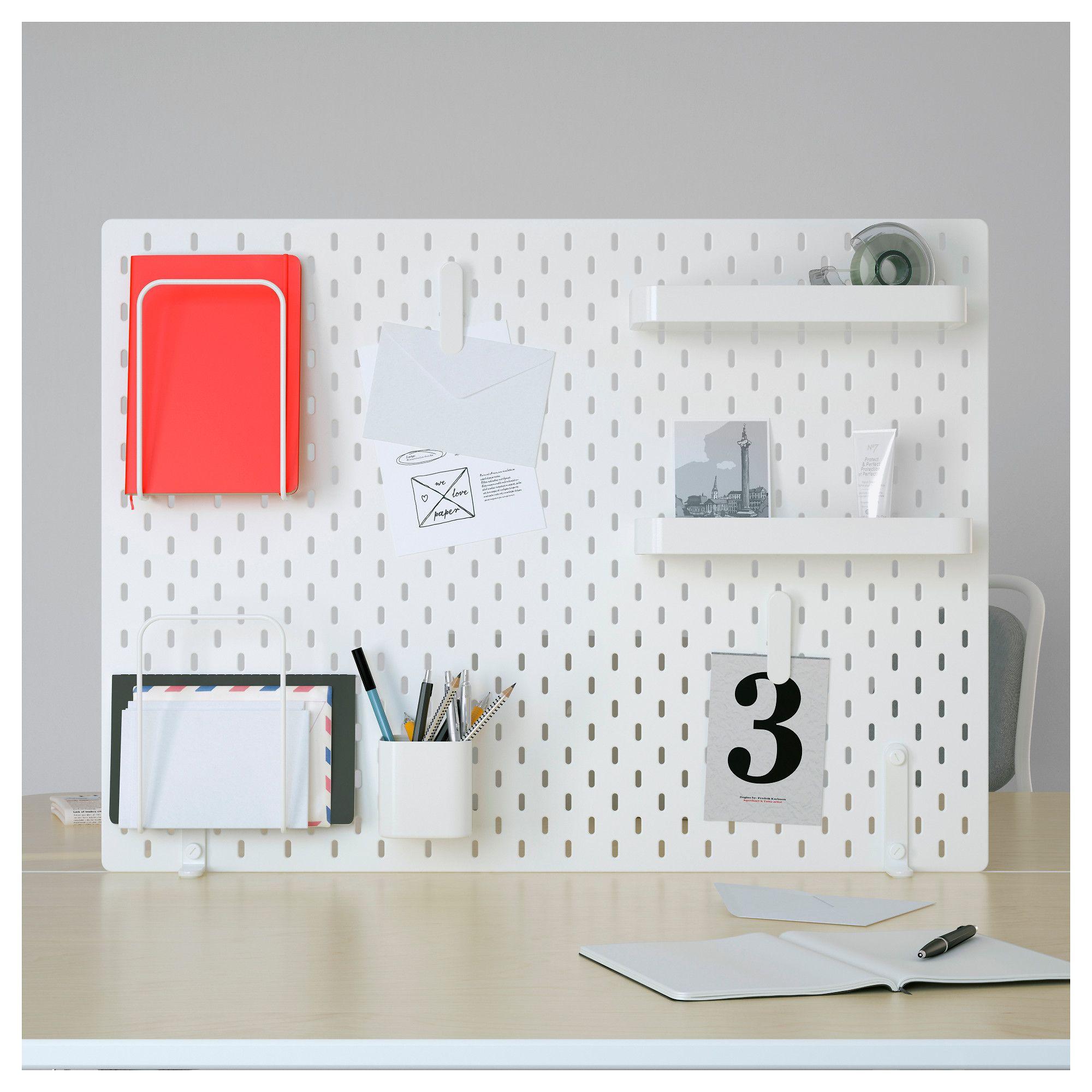 Skadis Tavlekombinasjon Hvit Ikea Ikea Pegboard Ikea Peg Board