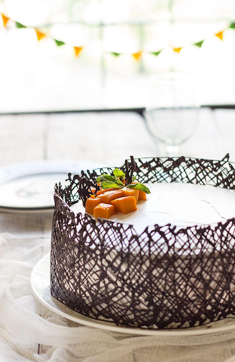 Mango White Cake   Cake, Dessert decoration, Mango cake