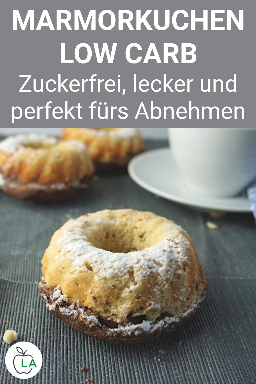 Low Carb Marmorkuchen - Kuchen Rezept ohne Zucker #kuchenkekse
