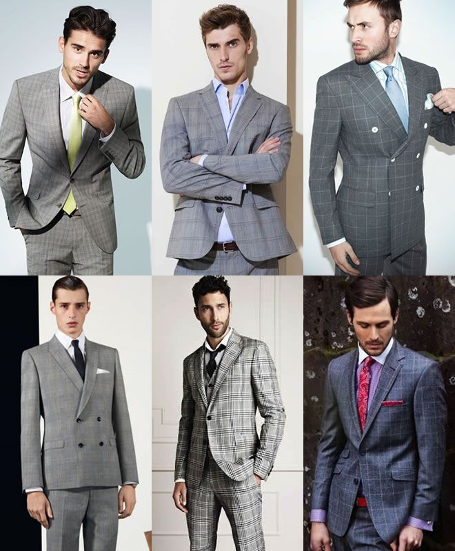 Men's Grey Checked Suits | Products that I love | Pinterest ...
