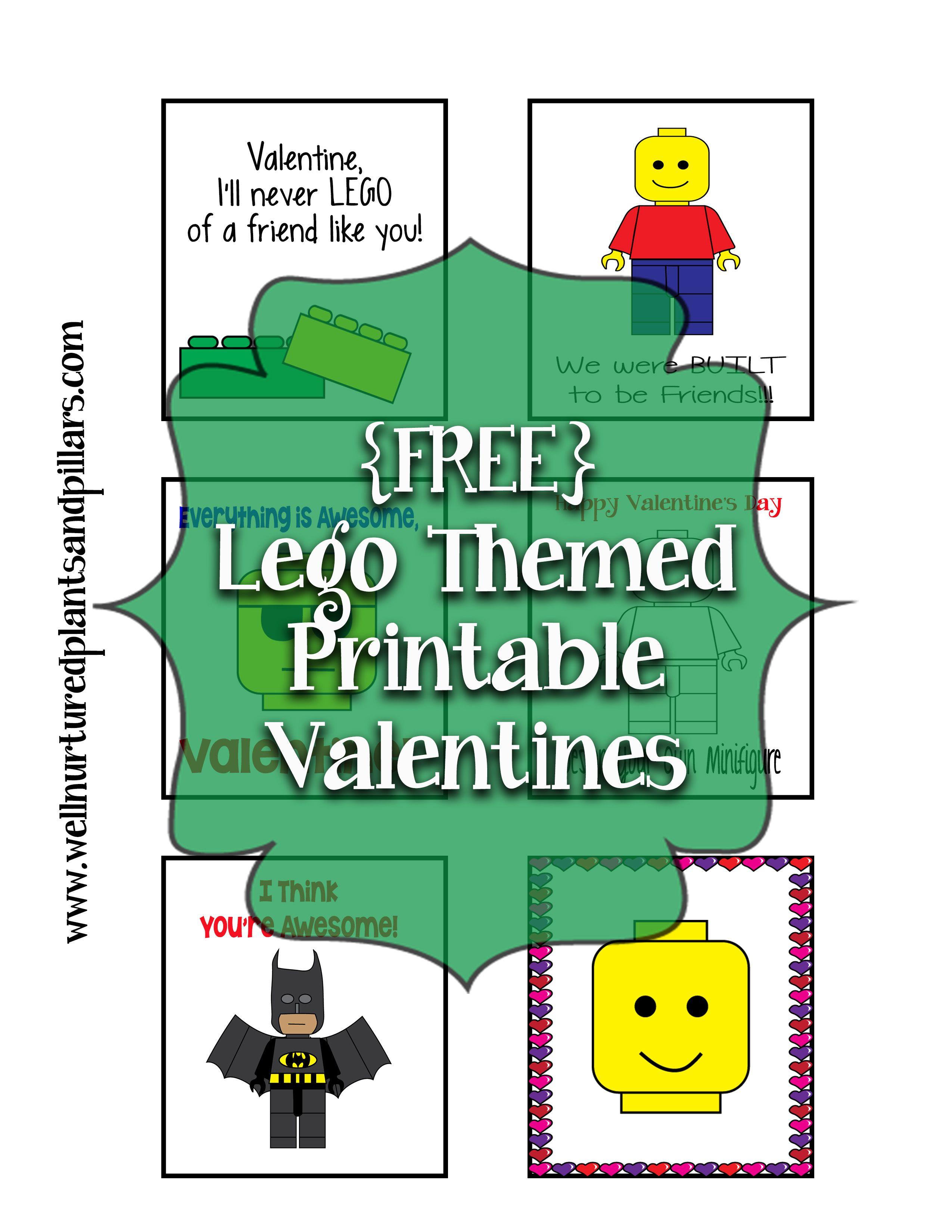 Lego Valentines Printable