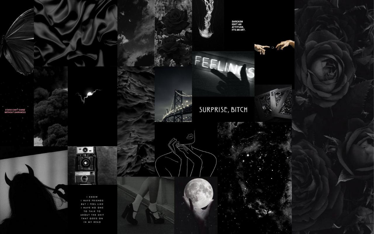 🖤 Black Aesthetic Wallpaper 1920x1080 - 2021