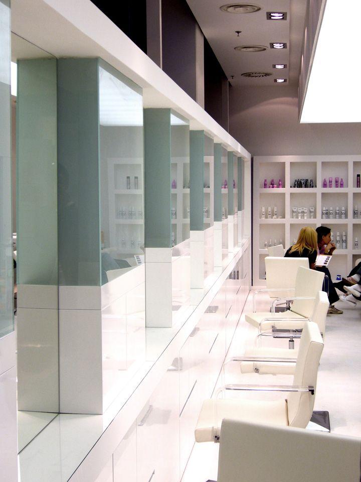 Hairdresser zsidr hair salon by kos hutter don t r tfalvi gy r hungary store design hair for Salon interior design software