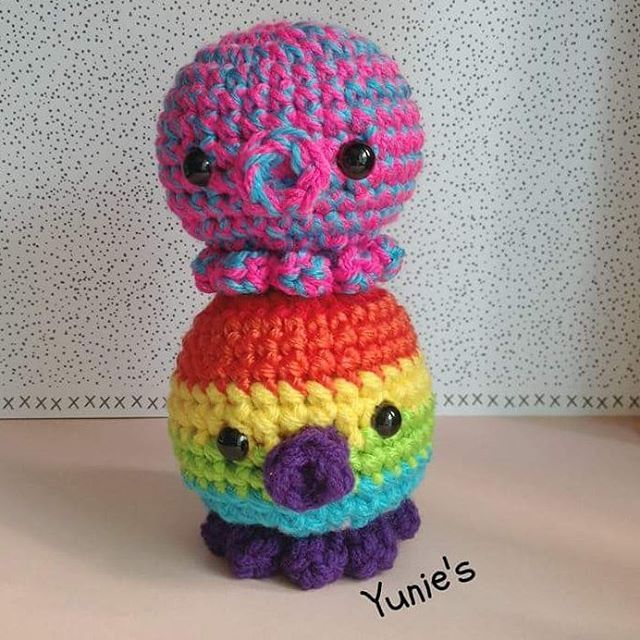 Octies just evolved into Huge Octies! #handmade #amigurumi #crochet ...