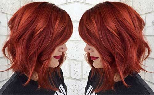 Kısa Kızıl Saç Modelleri Saç Modelleri