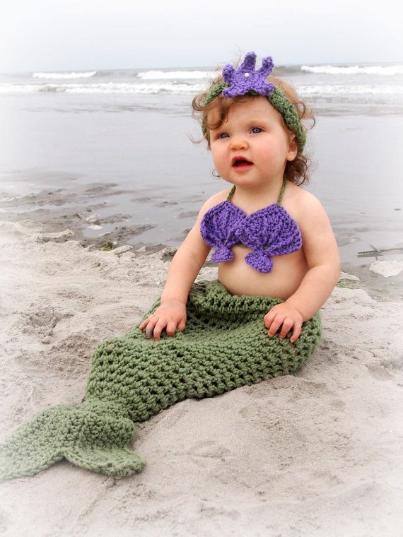Omg Crochet Mermaid Inspired Baby Girl Outfit Great By
