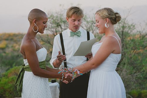 Lesbian commitment ceremonies