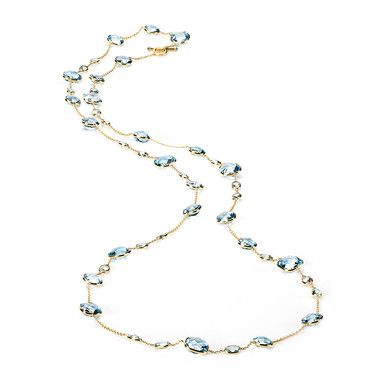 Birks Colllection, Blue Topaz Necklace, in 18kt Yellow Gold