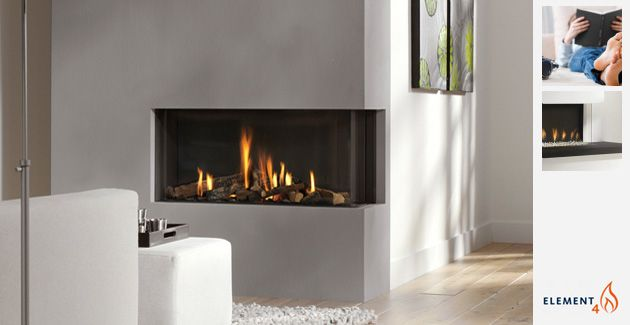 A frameless linear right or left corner direct vent gas fireplace ...