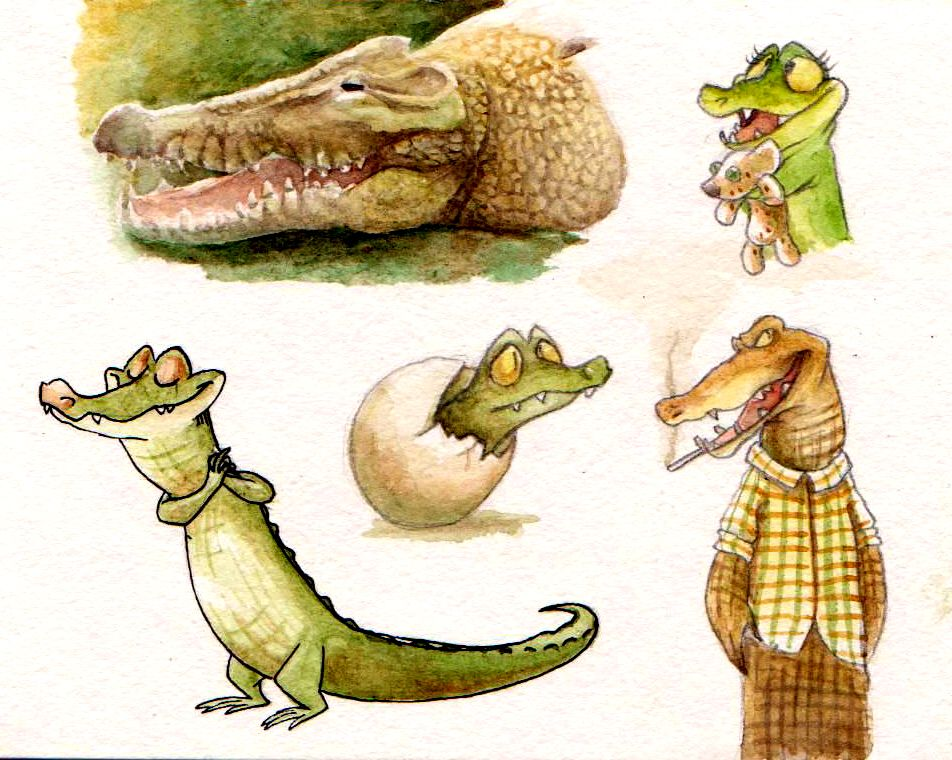 Crocodile doodles by Spotty-Servine.deviantart.com on @deviantART