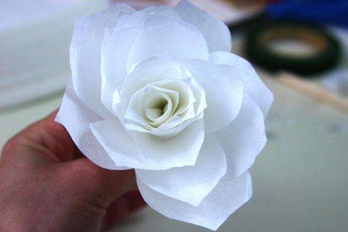 Wunderschöne Rosen aus Kaffeefiltern basteln - Anleitung-dekoking ...
