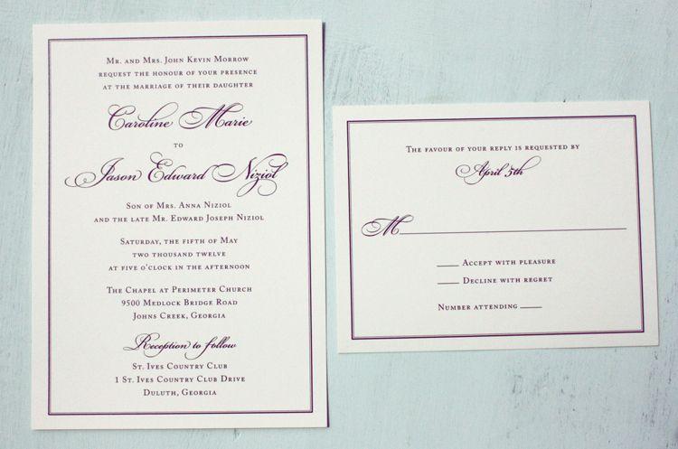 boring is surprisingly pretty wedding Pinterest Invitation - formal invitation style