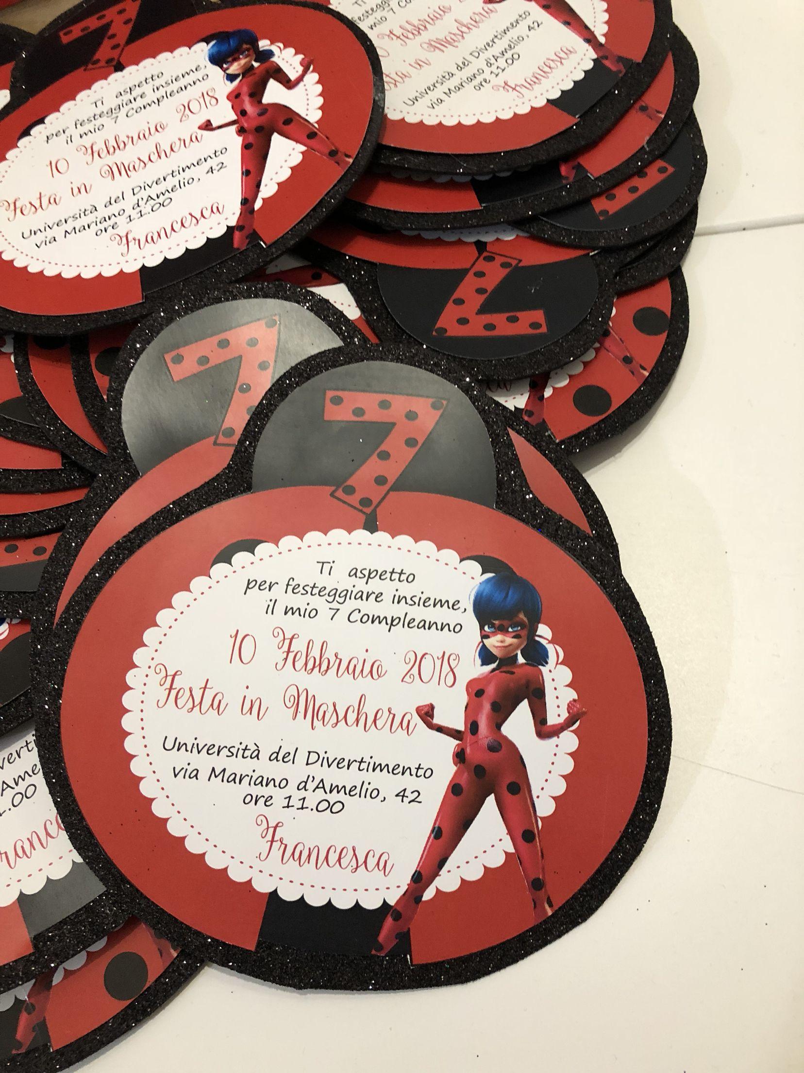 Invito Ladybug Fiesta Invitaciones Fiesta Y Cumpleaños
