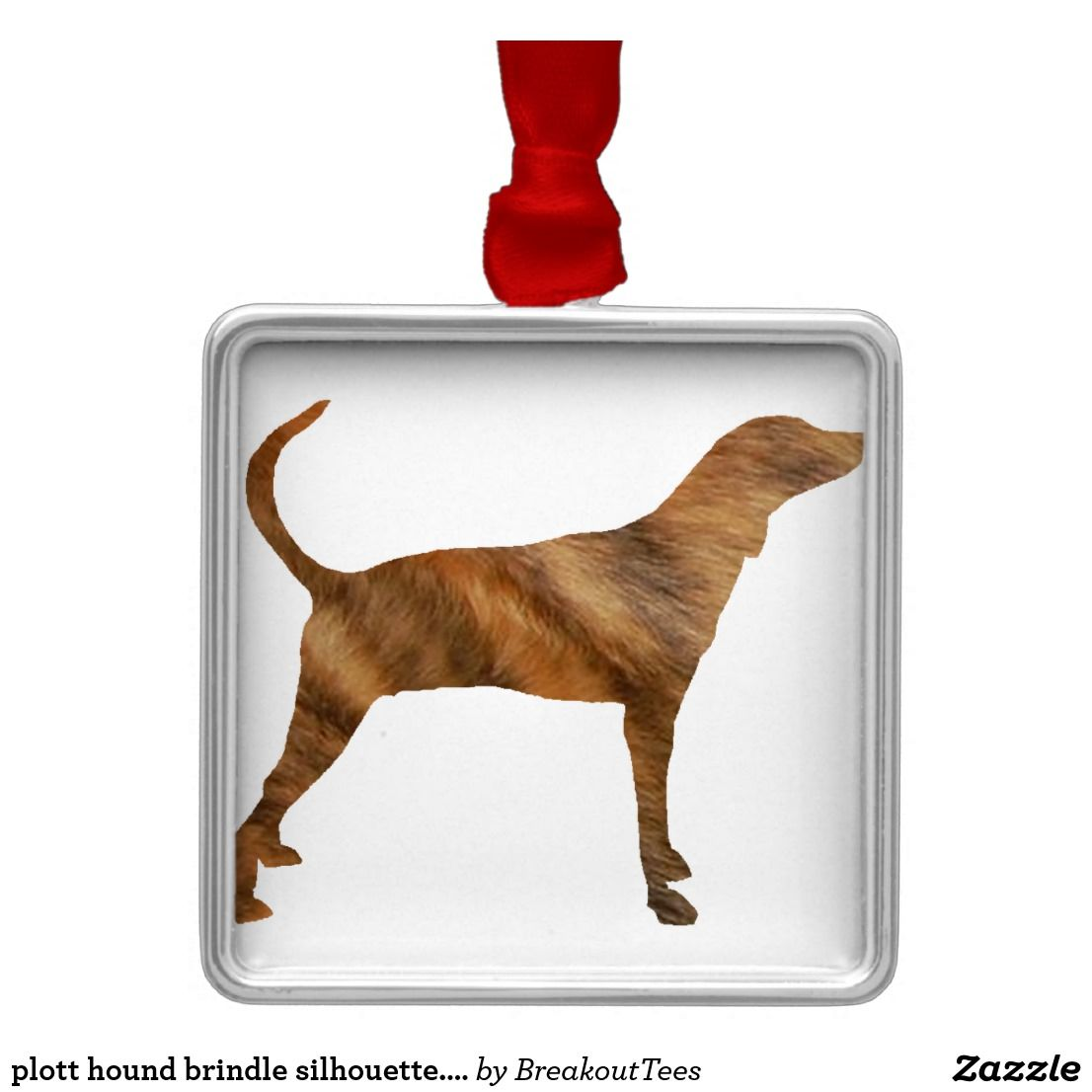 plott hound brindle silhouette.png metal ornament | Zazzle.com #plotthound