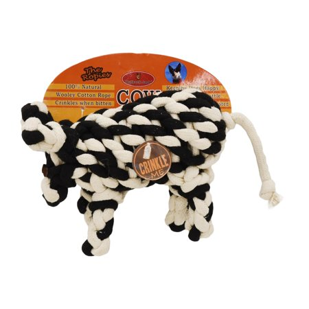 Outback Jack Wooley Cotton Rope Dog Toy Cow Shaped Black In 2019