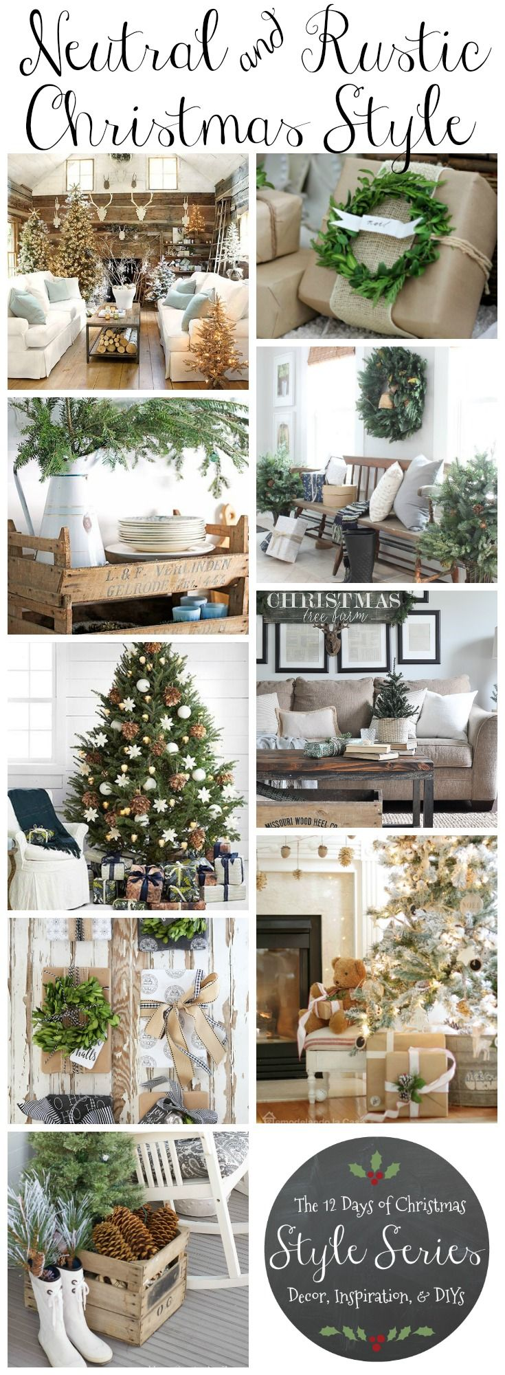 Rustic Natural & Neutral Christmas Style Series -   21 neutral winter decor