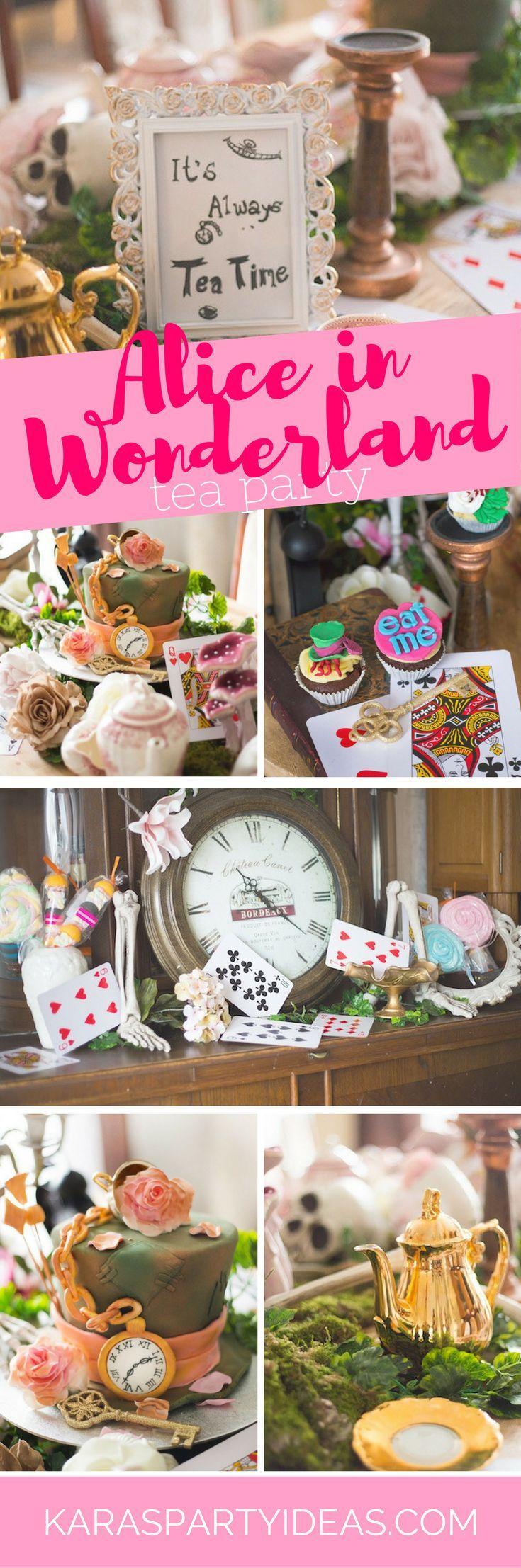 Alice in Wonderland Tea Party | Wunderland, Hutmacher und Teeparty