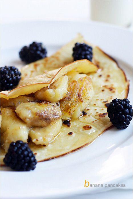 Banana Crepes | Recipe | Banana crepes, Grilled bananas ...