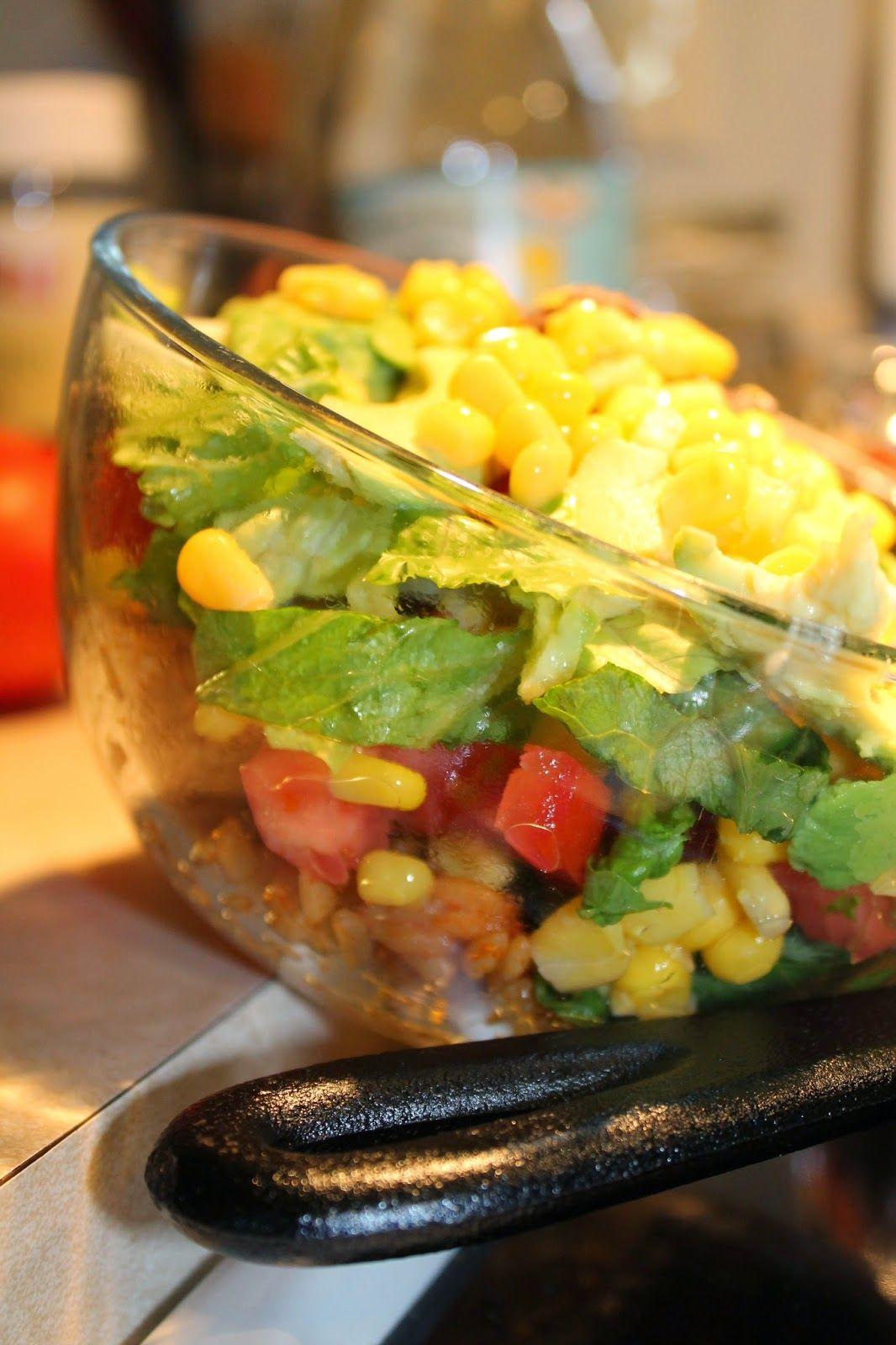 Burrito bowls everythings better with a little parsley