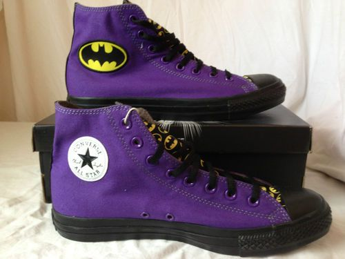 e396827eae75 Converse Chuck Taylors Limited Edition Batman DC Comic Joker Shoes Sneaker  10 5