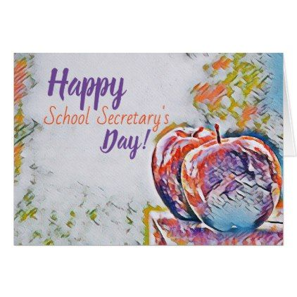 Happy School Secretary39s Day Card thank you gifts