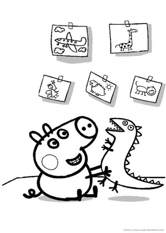 ausmalbilder peppa pig8  peppa pig wutz  pinterest