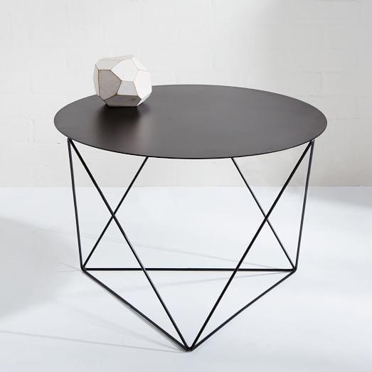 Amigo Modern Octahedron Side Table With Images Black Side