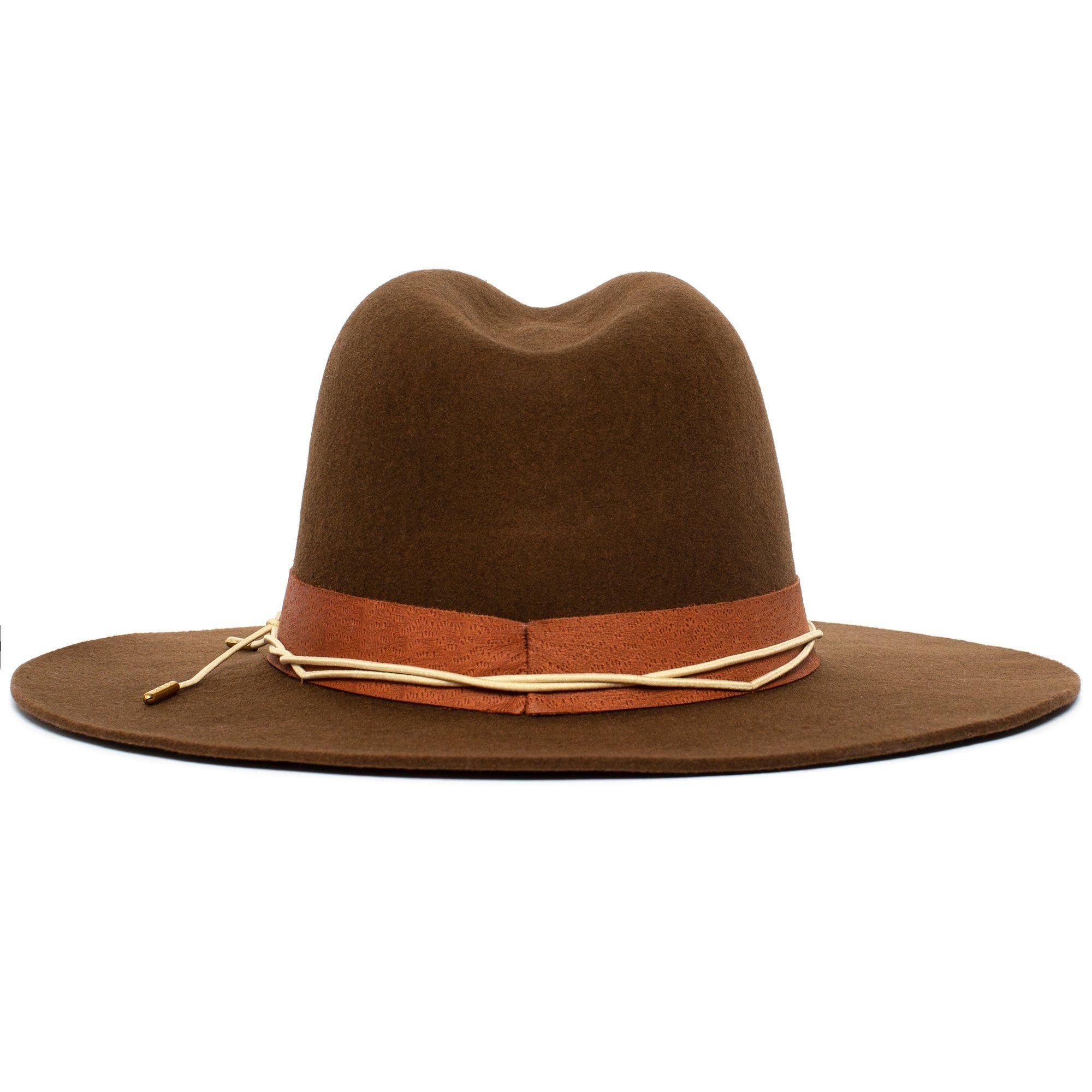 Goorin Tronador Fedora Hat in Whiskey, size Medium