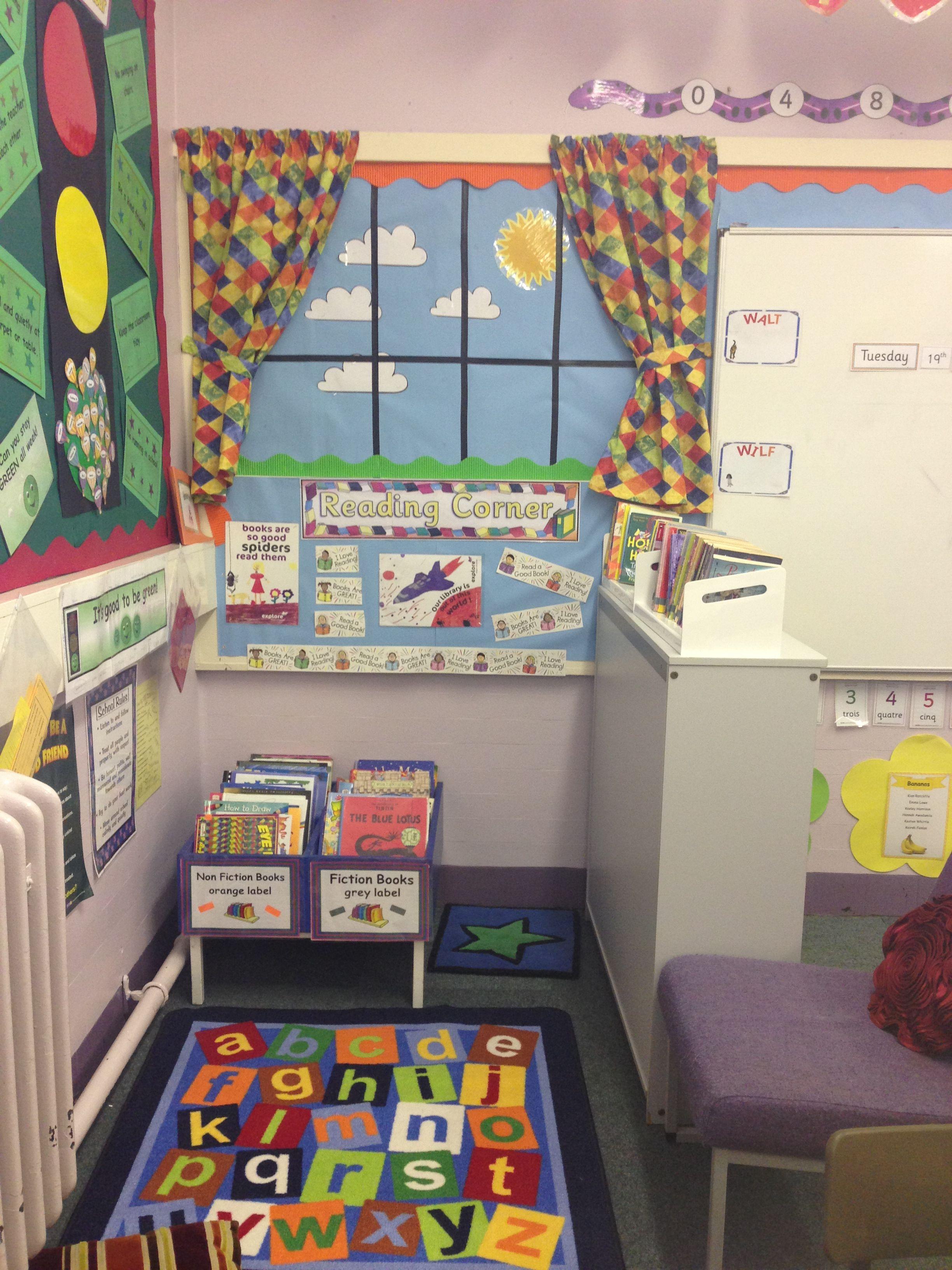 Kindergarten classroom window - Classroom Reading Corner