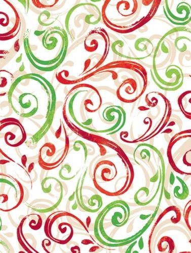 christmas swirl - Elegant Christmas Wrapping Paper