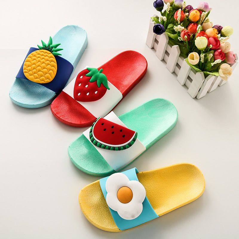 Toddler Kids Baby Girls Boys Summer Shoes Cute Fruit Beach Slipper Sandals Shoes