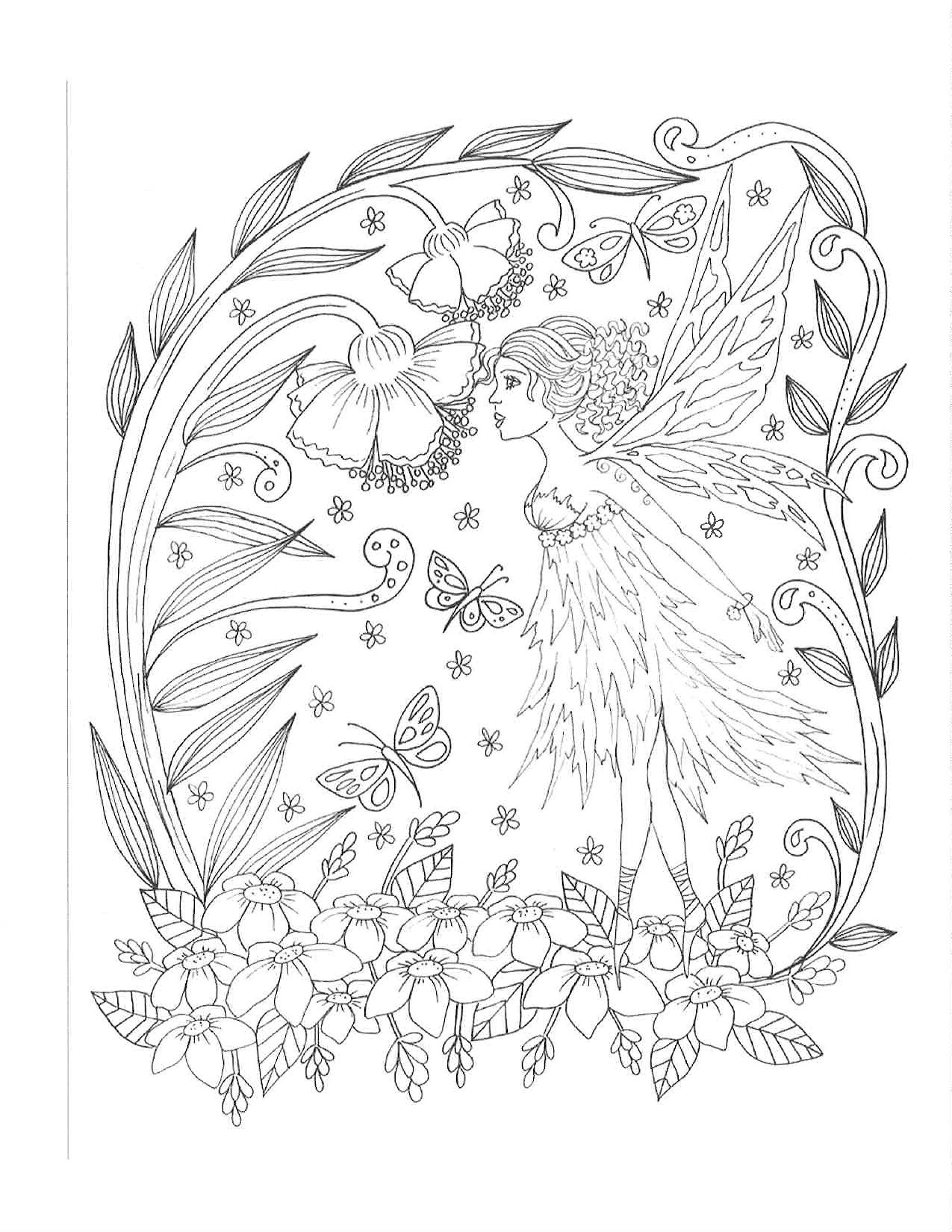 magical fairies coloring pages - photo#41
