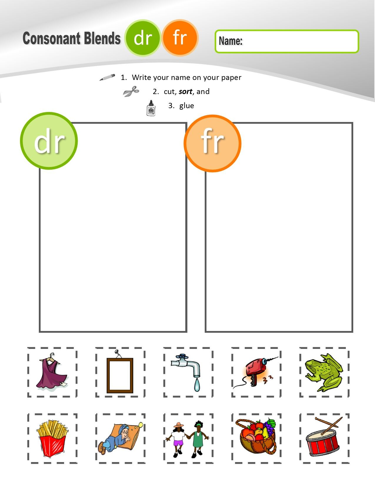 Cr Consonant Blends Worksheet