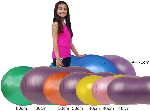 """Isokinetics Inc. Brand Peanut Ball - Anti-Burst - 40cm (15.8"""") - Bubble Gum Pink - For Exercise and Physical Therapy"""
