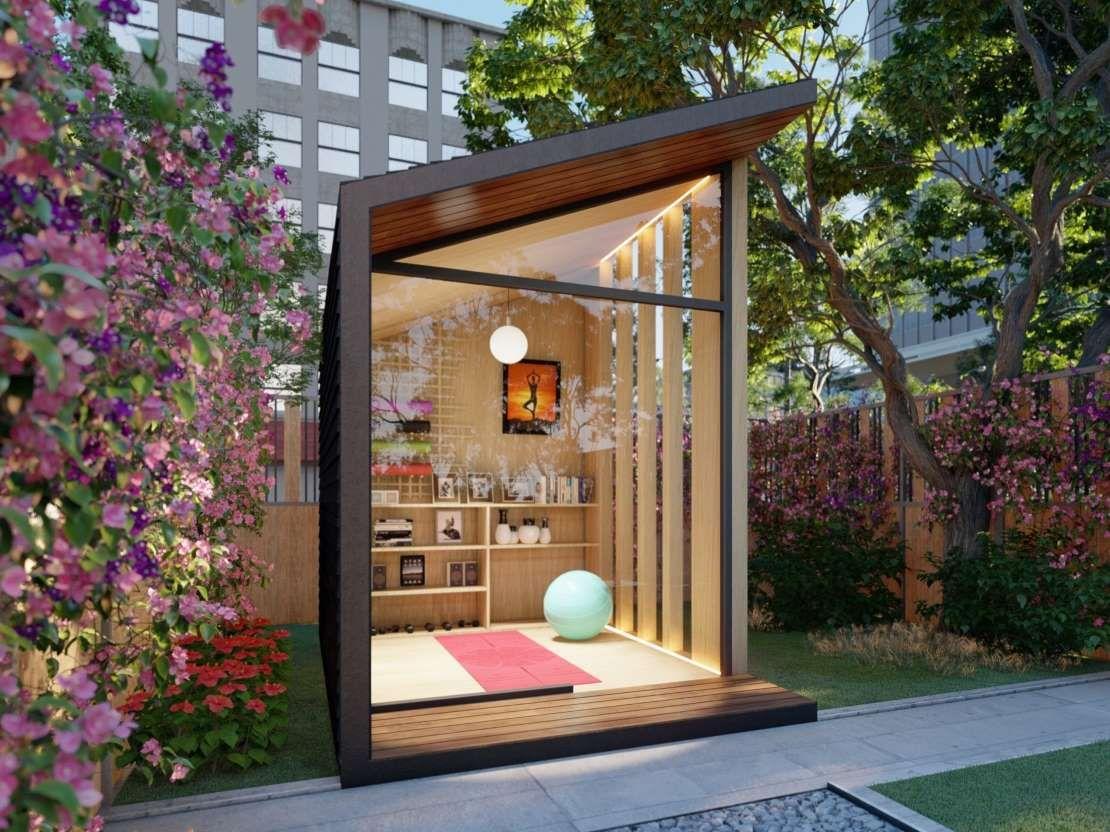 Pin On Backyard Ideas Diy backyard yoga studio