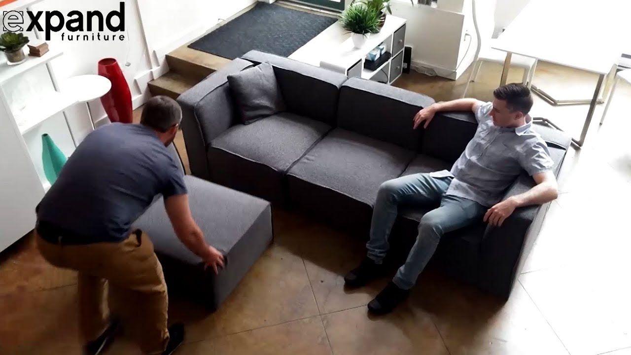Adjustable Sofa Soft Cube Modular System Changes Shape
