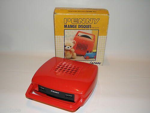 ancien mange disque penny de lansay boite design italien des ann es 70 jeu jouets. Black Bedroom Furniture Sets. Home Design Ideas