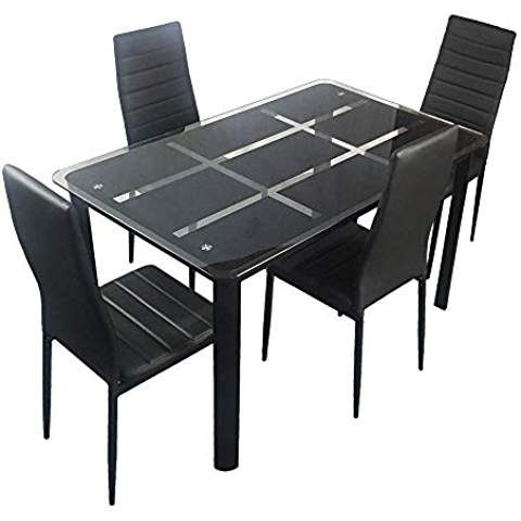 Asher Amada New Dining Table Set Jiugongge Table 4 Chairs ...