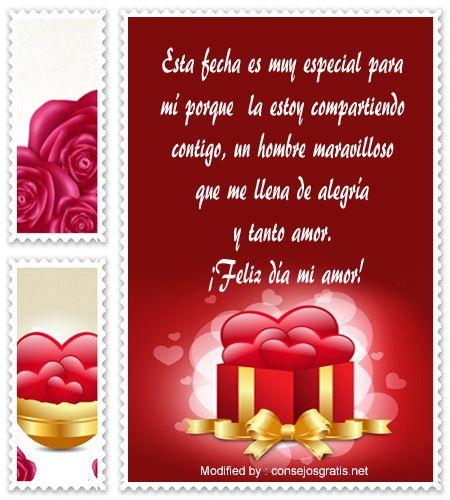 mensajes del dia del amor y la amistad para compartir por Whatsapp,enviar tarjetas del dia del amor y la amistad por whatsapp: http://www.consejosgratis.net/dedicatorias-de-san-valentin-a-novio/
