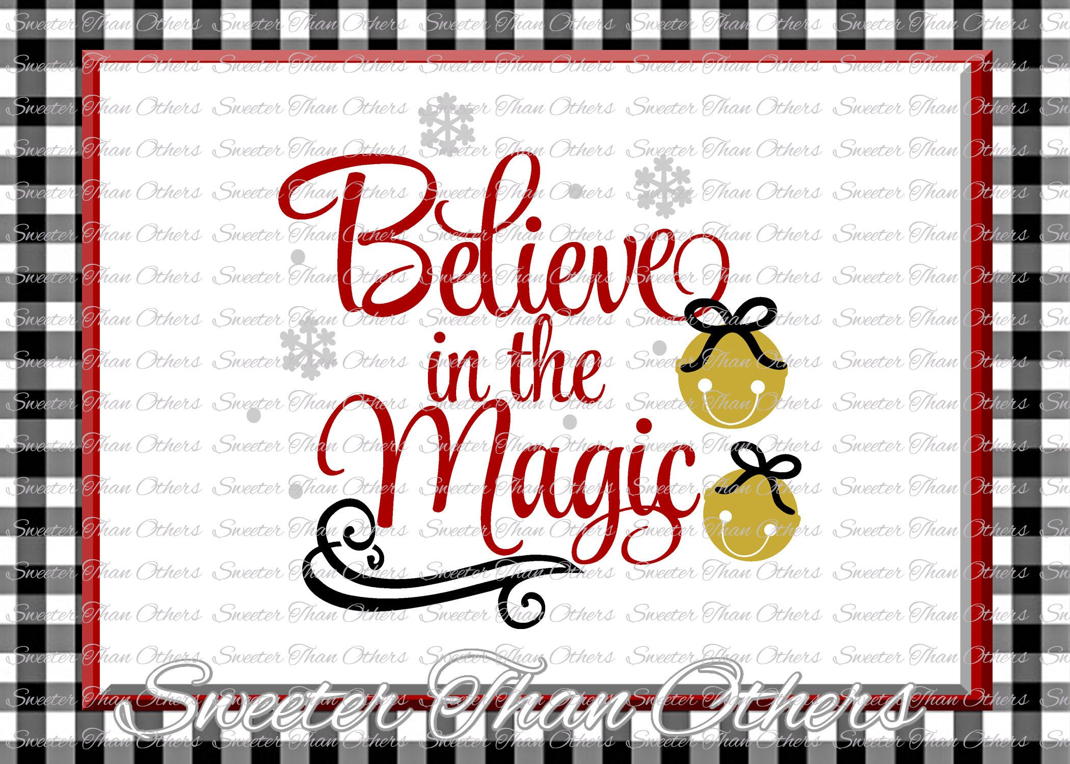 Believe in the Magic Svg, Christmas svg, Bells svg, Dxf