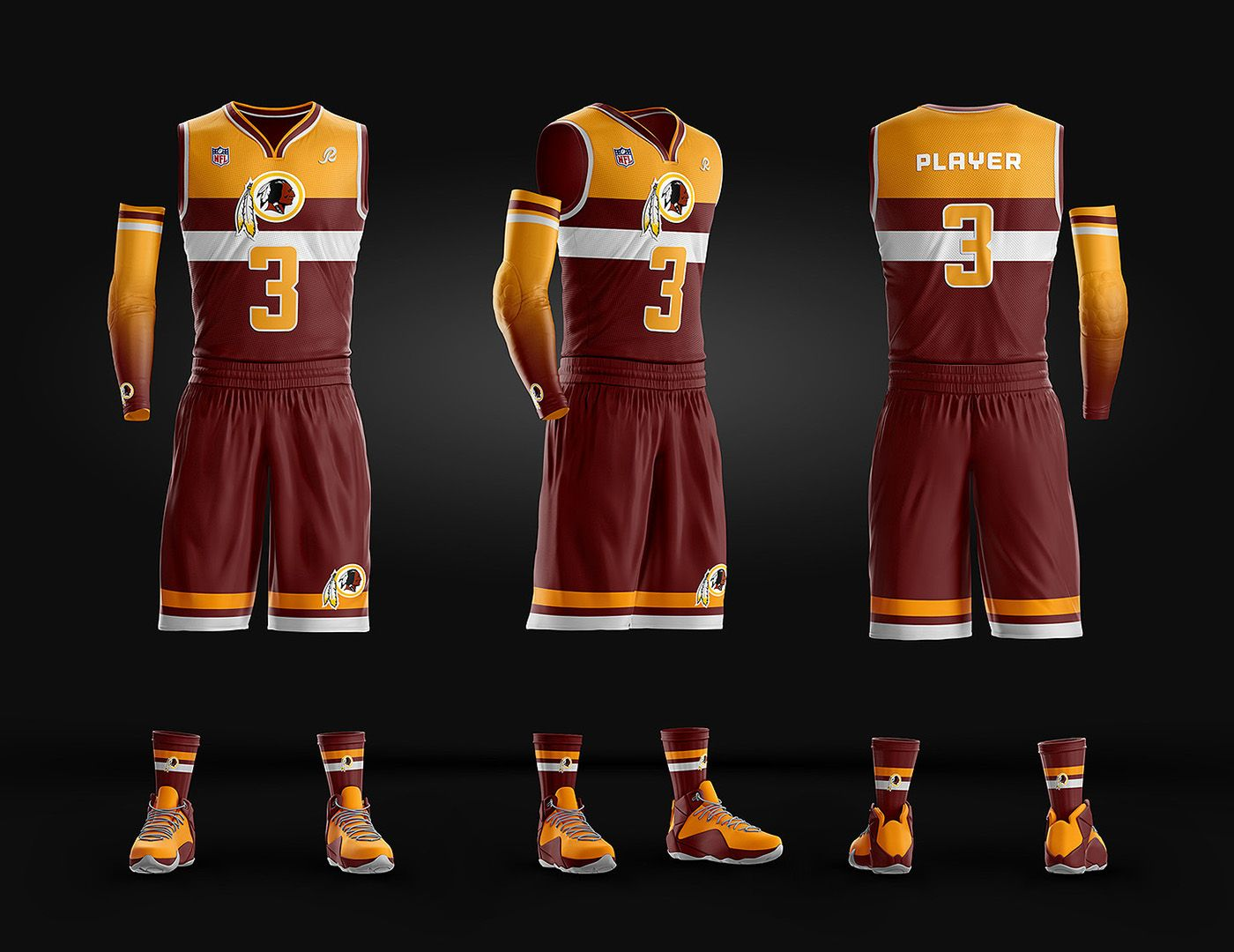 Basketball Uniform Jersey Psd Template On Behance