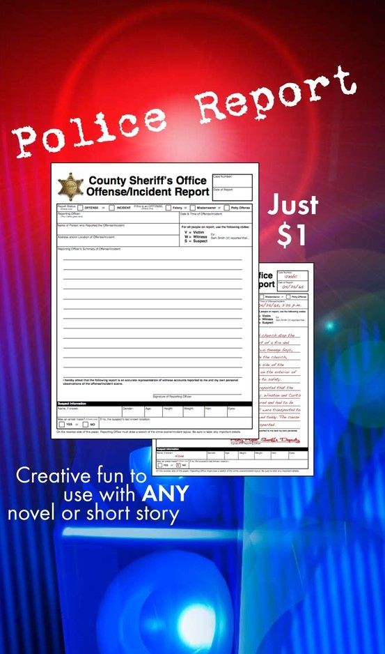 Get your kids excited about digging into any piece of literature - police incident report template word