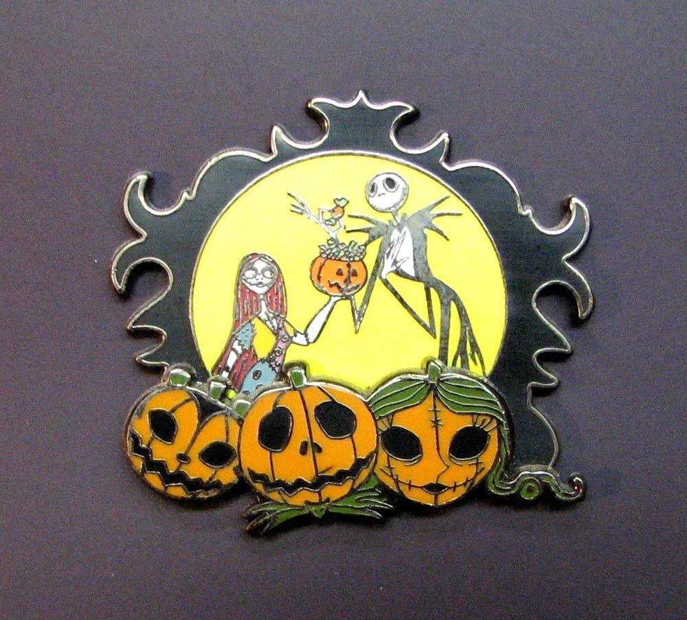 Disney Nightmare Before Christmas Jack Sally Pumpkin Patch Pin (ND ...