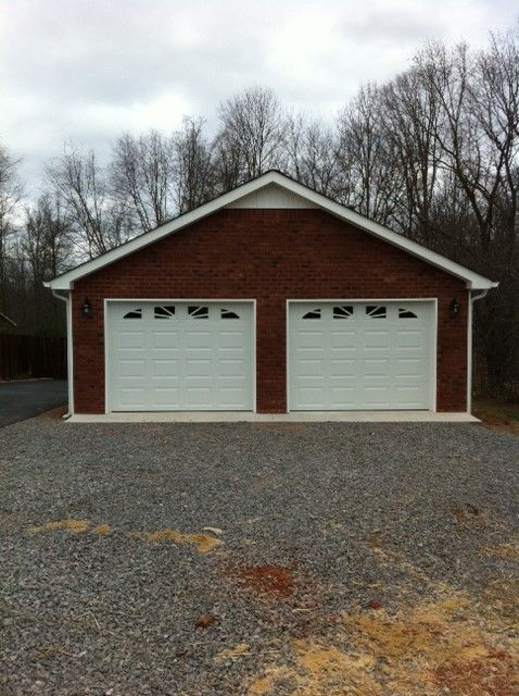 Custom Garage Gallery Custom Garages Exposed Brick House Styles