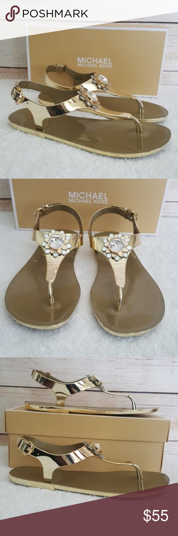 New Michael Kors Miley Jelly Sandals