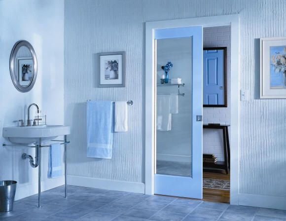 Retro sliding bathroom door ideas for classic look 5 stylish for small bathrooms pocket doors are becoming more and more utilized as a space saving door planetlyrics Image collections