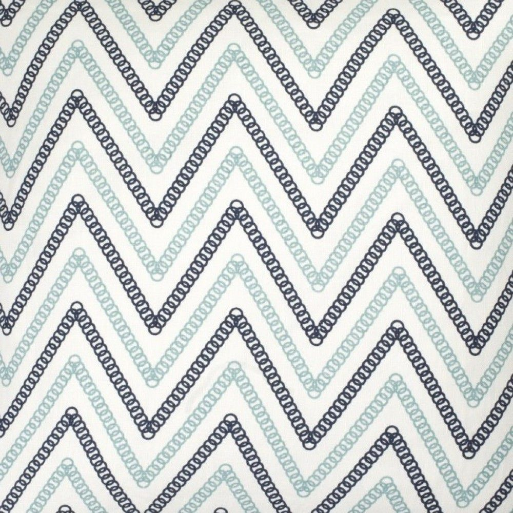 Circle Chevron in Light Blue/Navy from @COCOCOZY #fabric #linen ...